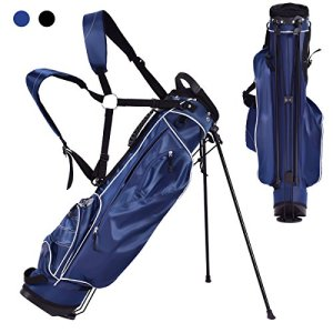 Costway Sac de Golf TrépiedSac de Transport pour Golf Housse de Golf Bleu