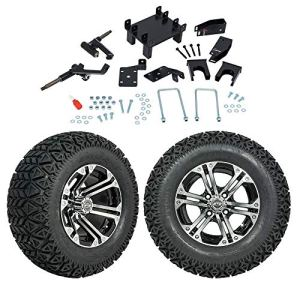 FidgetGear Kit élévateur électrique pour Chariot de Golf avec pneus A/T et Roues de 30,5 cm Compatible avec GTW 5″ EZGO RXV 2008 et Plus