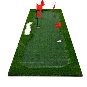 YAOSHIBIAN- Golf intérieur/extérieur portatif Put Green Tapis d'entraînement de Putter de Pratique Professionnelle de système très Longue Vraie Herbe mettant l'entraîneur Set Équipement de Golf