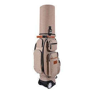 YAOSHIBIAN- Sac de Golf étanche Sac de Golf Multifonctionnel Accessoires de Golf pour Adulte Sac de Support de Golf avec remorqueur, Housse de Pluie, antivol à Code Équipement de Golf