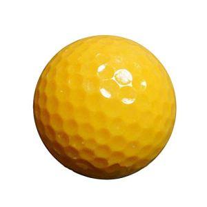 YAOSHIBIAN- Golf Practice Range Supplies Jeu Balle Double Couche Golf Balle Pratique du Golf pour Hommes Femmes Débutants, Jaune 10 Pcs Équipement de Golf (Couleur : Jaune, Taille : Diameter 42.6mm)