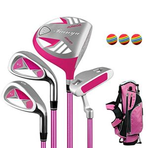 Zavddy Putter Golf Kids Golf Beginner Golf Club Set Golf Putter Pratique du Club Set for Enfants de 3-12 Ans, Main Droite Enfants Utilisé Golf Club Set avec 3 balles de Golf Grip Prime