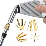 Tour 10/20pcs de golf Golf cales Laiton Tige adaptateur compatible avec .335.350.355.370Golf Accessoires pour fer à repasser Tige, doré