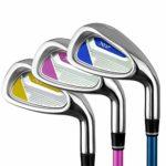 Clubs de golf Rod 7 Enfants Putter De Golf Clubs De Pratique De Golf Pôles D'exercice Pour Enfants Avec Une Bonne Poignée En Caoutchouc Pour Filles Garçons 3-5 Ans, 6-8 Ans, 9-12 Ans Coins de sable de