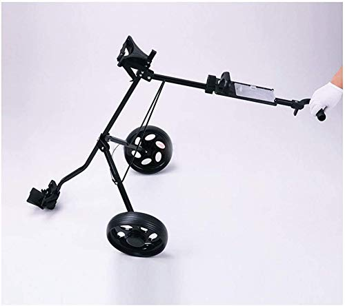 Chariots De Golf Voiturette 2 Roues Chariot pivotant Rapide Pliant Tirer Pousser Voiturette avec Tableau de Bord Parking Stable