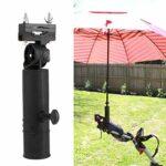 Clenp Porte-Parapluie De Golf, Porte-Parapluie Universel à Angle Réglable, Accessoires De Support De Chariot De Golf Noir