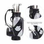 idalinya Mini Sac de Golf Stable et Durable intéressant, Sac de Golf de Bureau, pour Friend Company(Black and Silver)