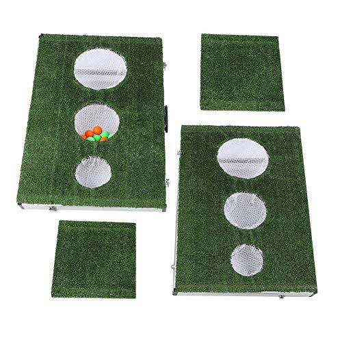 Ausla Portable Putter de Golf Ensemble kit, Ensemble de Pratique de Putt, Jeu d'Entraînement Golf Portable Équipement de Formation de Golf, 90x60x11cm