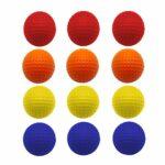 Balle De Golf En Mousse Entrainement ÉPonge PU 12 Pieces,Balle De Golf Doux Confortable 5 Couleurs Votre Choice Pratique En Plein Air IntÉRieur Pour Enfants Jaune Bleu Orange (12 Pcs, Mixte Couleur)