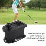 Delaman laveur balle de golf nettoyeur laveur golf Nettoyeur de Club de Golf Portable en Plastique Dur Club de Golf Tête de Balle Laveuse Brosse Manuelle for Golf Cart Black