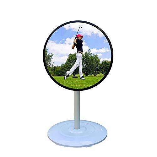HUWENJUN123 Miroir d'entraînement de balançoire de Golf, Miroir de Golf Grand Angle réglable, Outil d'aide à la Formation de Golf pour entraîneur et démarreur
