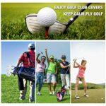 lychee Lot de 12 Housse de tête Fer Tête de Club de Golf Couvre Durable Matériau résistant à l'eau pour Titleist Callaway Ping Taylormade Nike Yamaha Cleveland Wilson Reflex (Blanc)