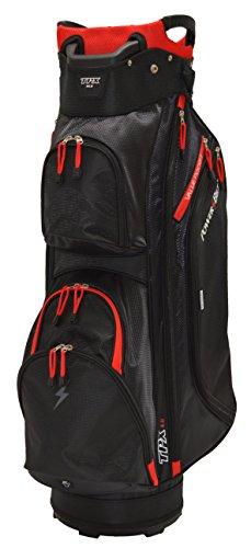 PowerBilt Tpx Sac de Golf trépied L Noir/Rouge