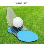 PuttOut -Pressure Putt Trainer?Golf Training aid Practice Tools?Foldable Real Hole Exact Conditions (Blue)