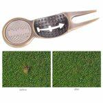 Pwshymi Divot Tool Golf Green Lawn Repair Fork Multi Function Marqueur de Bille en Alliage d'aluminium