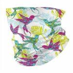 Serviette coupe-vent respirante pour homme et femme Motif fleurs de colibri