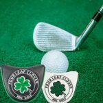 sharprepublic Golf Mallet Putter Couverture Mi Capuchon PU en Cuir de Golf Club Protecteur Magnétique Fermeture – Blanc