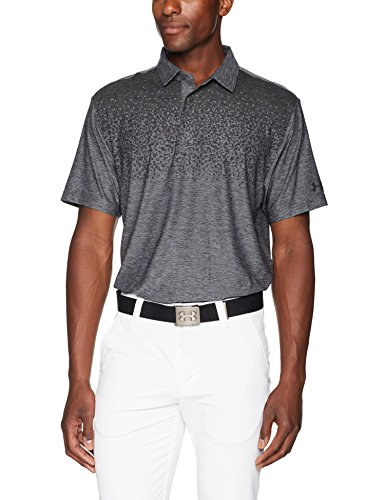 Under Armour Men's Playoff Polo, Charcoal /Black, Large