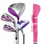 Yhjkvl Club de Golf 4 Pcs Golf Club Golf Putter Rose Golf Set Rod Dames Demi Ensemble Droite Main Utilisé Putter De Golf pour Les Femmes Entraînement Putter (Color : One Color, Size : S2)