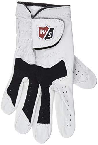 Wilson Staff Gant de golf, Conform Glove, Taille XL, Pour Homme, Main Droite, Blanc/Noir, Tissu éponge/Cuir Cabretta, WGJA00315XL
