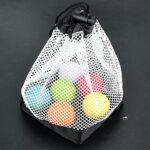 Vikye Porte-Balle de Golf, 36 Porte-balles de Golf, Sac de Rangement en Filet, Poche à Cordon en Nylon, Accessoire de Golf pour Fournitures de Sports de Plein air, Sports de Plein air