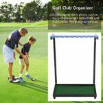 Affichage de Club Golf,Sets De Golf Golf Cadeaux De Golf Accessoire organisateurs Golf Support Putter Ensembles Golf, Organisateur pour niveler Le Terrain