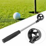 Alomejor1 Retriever de Balle de Golf télescopique Attrapeur de Balle de Golf Portable Extensible télescopique léger en Acier Inoxydable