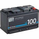 ECTIVE LC100 12V 100Ah 1280Wh Batterie d'accumulateurs LiFePO4 lithium-fer-phosphate avec BMS