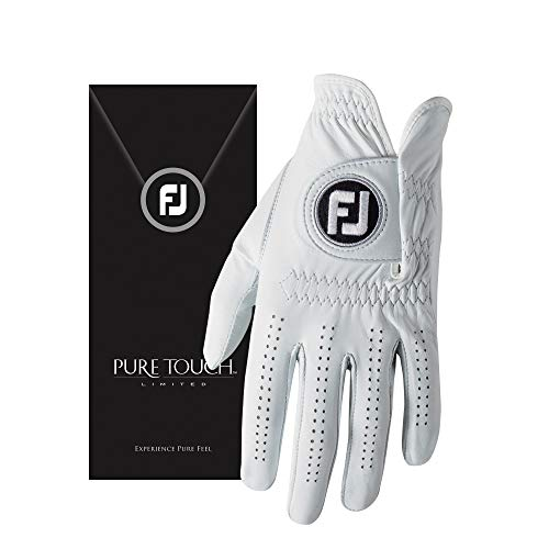 FootJoy Men's Pure Touch Limited Golf Gloves White Small, Worn on Right Hand