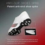 WBS Chaussures de Golf pour Femmes, Chaussures de Golf étanches pour Femmes, Pointes antidérapantes Microfibre omoortable Golf Respirant Golf Chaussures de Sport + Sacs de Chaussures