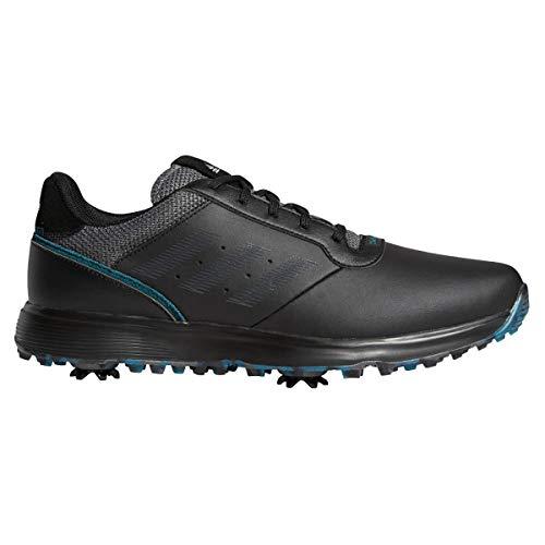 adidas Chaussures de golf S2G pour homme – Core noir/gris Six/Wild Teal – Pointure 40