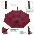 Amazon Brand – Eono Grand Parapluie de Golf, 62 inch, à Double Voilure et Ouverture Automatique, Protection Contre Le Vent, Grand Format Golf Umbrella – Bourgogne