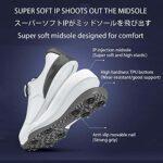 Chaussures de Golf Hommes, Imperméables Anti-dérapage pour Hommes avec Système de Dentelle BOA Chaussures de Sport Respirantes Sneakers d'été Chaussures d'entraînement,Gris,7UK