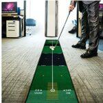 EElabper Frapper Golf Tapis Putting Tapis Vert Bureau intérieur Pratique Tapis Formation avec Piste