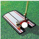 EElabper Golf Putting Alignement Mirror Golf Training Aids Ligne Pratique Eye Mettre l'alignement Pratique Outil pour Le Golf Noir