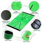 EElabper Golf Tapis d'entraînement Pratique Golf Portable Mats Coussin de Formation pour Swing détection Vert