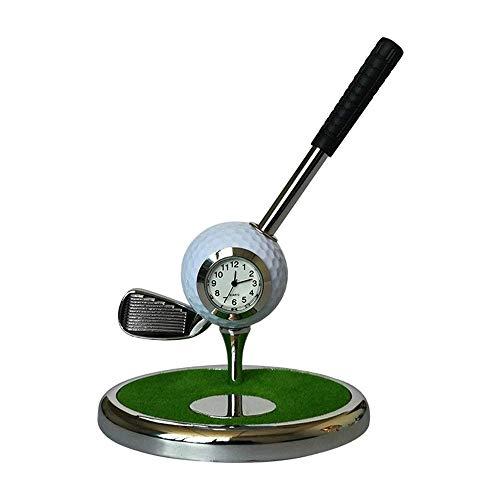Ensemble de stylos de Golf Stylo à Bille en métal Stylo de Club de Golf créatif Ensemble de Golf Cadeau Porte-Stylo Multifonction pour Bureau Décoration de Bureau Souvenirs de Golf Cadeaux (