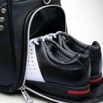 inChengGouFouX Sac à Vêtements de Golf Durable Sac de vêtements de Golf en Cuir Gym Bagages Double Pont Golf Sac Sac Sac de Voyage avec Chaussures Sac de Magasin Équipement de Plein Air
