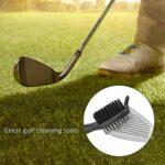 Keenso Brosse de nettoyage pour club de golf avec double poils en nylon et acier (jaune)