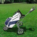 MAORR Golf Push Panier, 3 Roues Golf Panier Poussez pour Les Clubs de Golf, Chariot de Golf léger Pliable avec Trous de Balle de Golf (Color : Red)