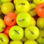 Second Chance Bridgestone E6Optic Grade A Balles de Golf de récupération avec Sac de Rangement réutilisable, Mixte, BRI-E6OPTIC-100-A-BAG, Jaune/Orange, Size 100