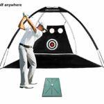 Tapis de golf (61 x 33 cm), un tapis d'entraînement de golf portable pour la détection et l'analyse de la trajectoire de swing pour aiguiser vos compétences de frappe en intérieur et en extérieur.