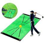 YepYes Golf Tapis D'entraînement, Pratique Golf Portable Mats Coussin De Formation pour Swing Détection Vert