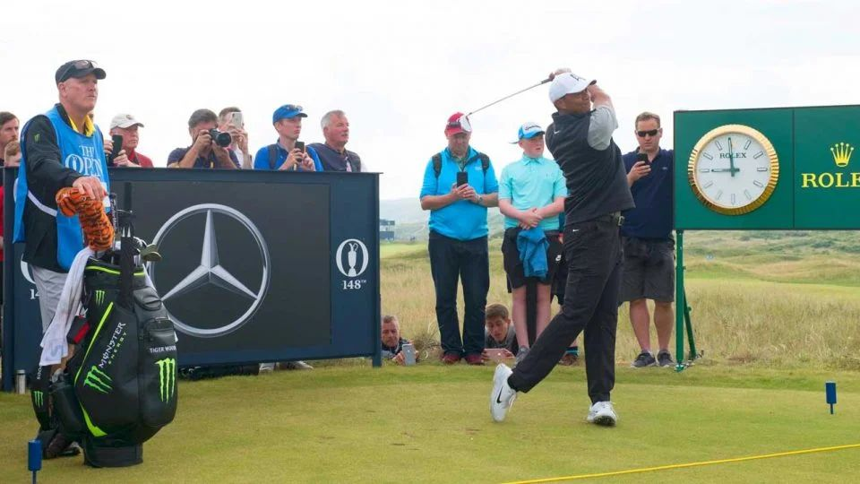 tiger woods friday tee time british open