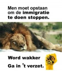 In 't verzet slapende leeuw