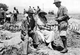 Syrian History - British crime novelist Agatha Christie touring Syria in  1935