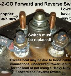 burned ezgo forward reverse switches studs [ 1296 x 968 Pixel ]