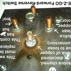 Ezgo Forward Reverse Switch Wiring Diagram Bargman Plug Golf Cart Switches A Closer Look Burned And