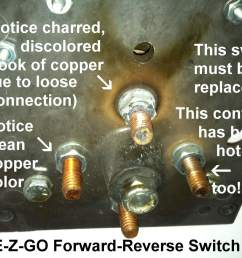 golf cart forward reverse switches a closer look golf cart ezgo forward reverse switch wiring diagram [ 1296 x 968 Pixel ]