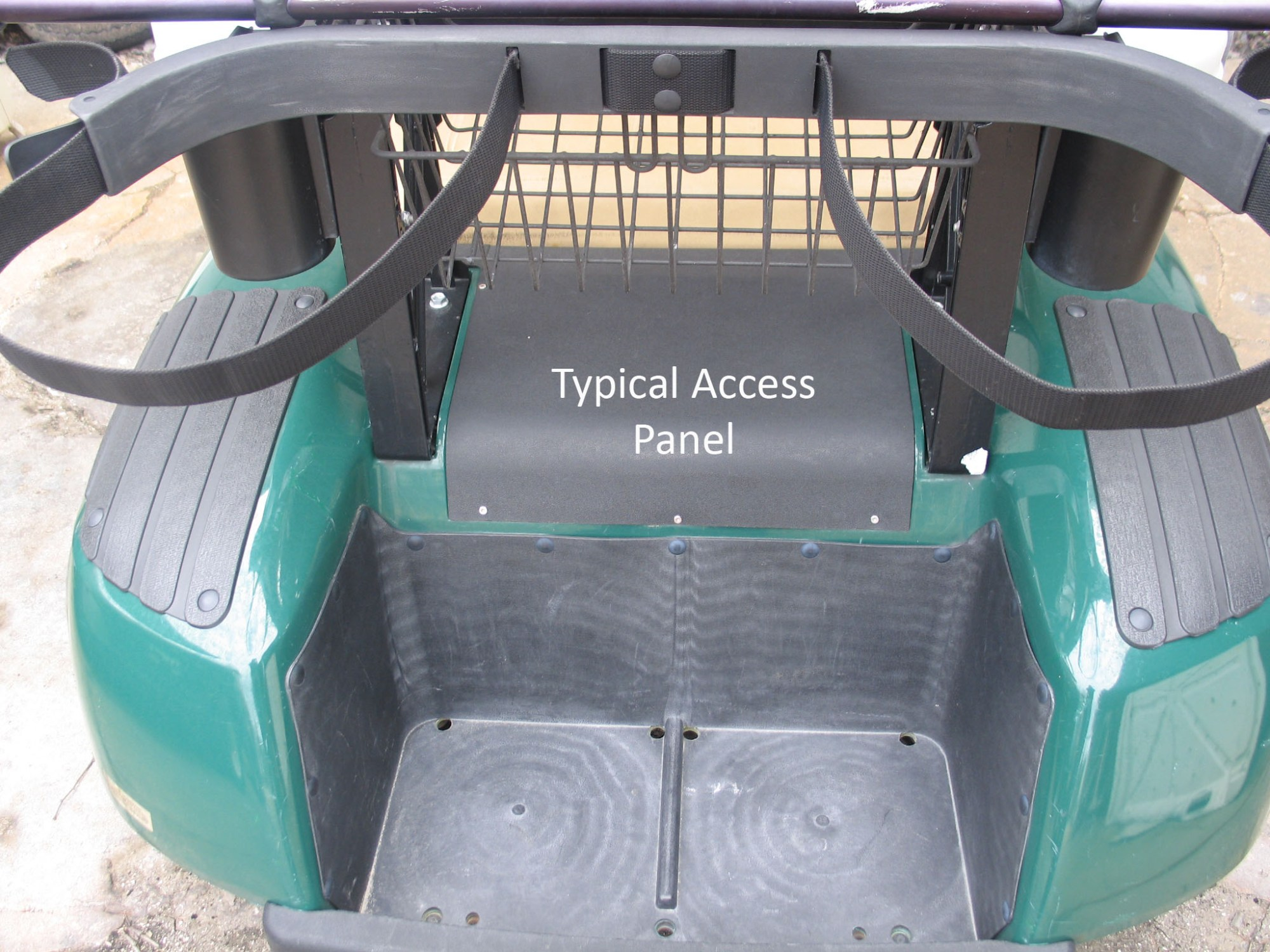 hight resolution of  differential area access hatch over electric golf cart motor
